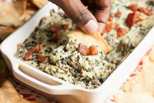 Spinach Artichoke Dip with Bacon