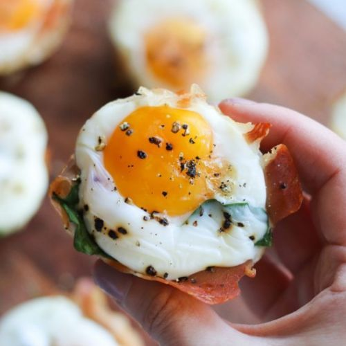 Air Fryer Prosciutto Egg Cups