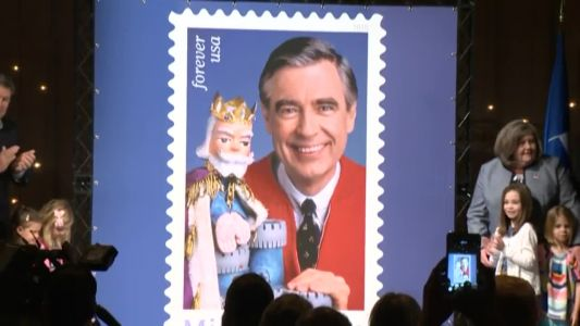 An icon honored: USPS unveils Mister Rogers stamp
