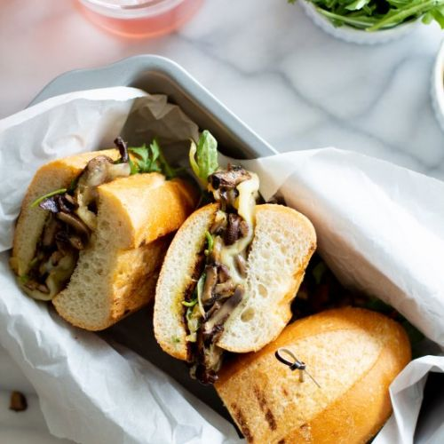 The Philly Cheese Mushroom Sandwich