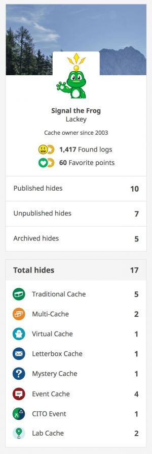 Welcome to the cache owner dashboard