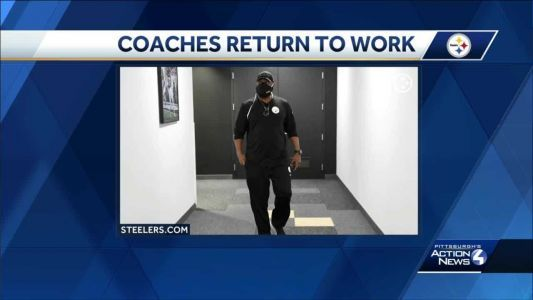 Mike Tomlin returns to Steelers team facility on South Side