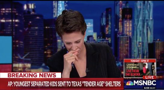 Rachel Maddow breaks down while reading a new report about 'tender age' shelters at the border