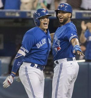 Goins' hidden-ball trick, slam lead Blue Jays over Yanks 8-1