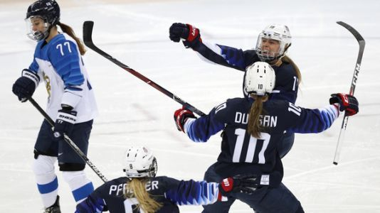 U.S. Women's Hockey Team Reaches Gold Medal Game At Winter Olympics
