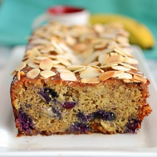 Blueberry, Banana & Almond Loaf Cake