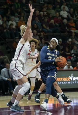 Shepard, big run lift No. 1 Notre Dame past Hokies, 80-51