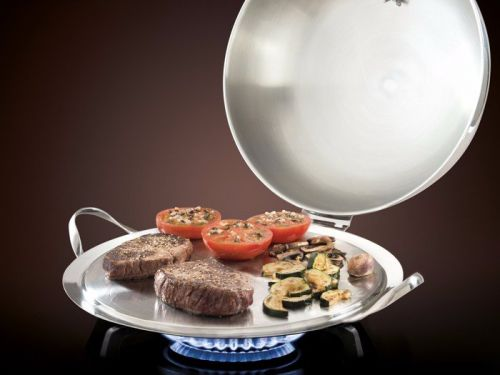 This cleverly designed stovetop griddle can do the work of a pan, oven, and serving tray for under $100