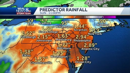 Inch-and-a-half of rain expected through weekend