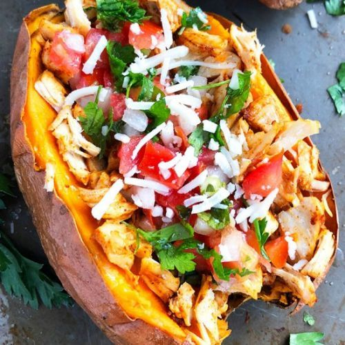 Chicken Stuffed Sweet Potatoes