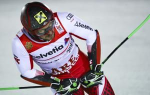 The Latest: Hirscher looks to win slalom as ski worlds end