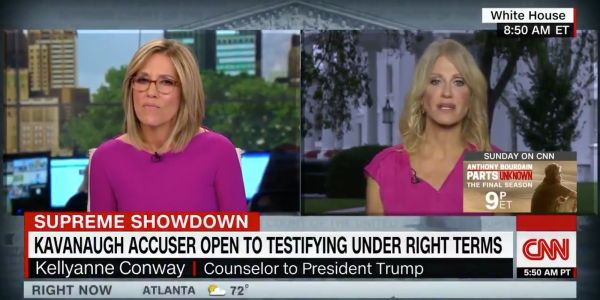 Kellyanne Conway says people shouldn't 'conflate the MeToo movement' with the sexual assault allegation against Brett Kavanaugh