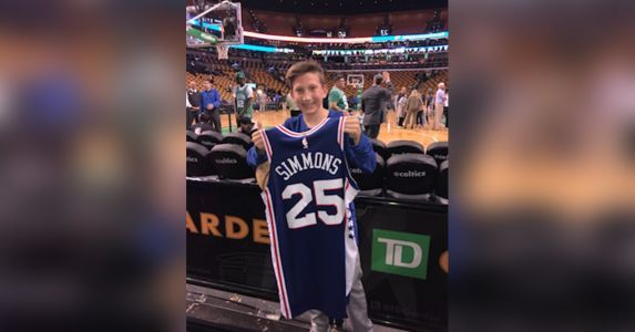 Windham teenager receives jersey from favorite basketball player