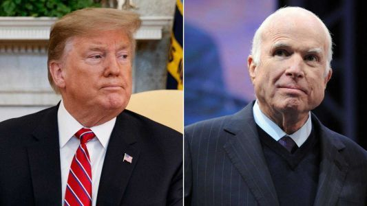 President Trump says he didn't get a 'thank you' for John McCain's funeral