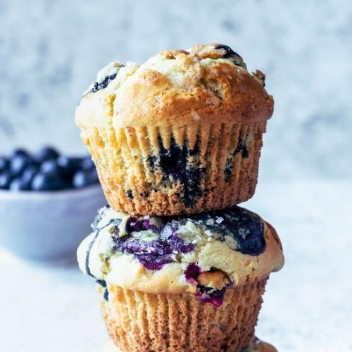 Tall Blueberry Muffins