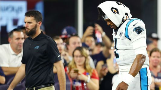Cam Newton injury update: Panthers quarterback hurt in first game back from shoulder surgery