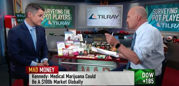 Canadian cannabis producer Tilray is going bananas after its CEO appeared on Cramer's 'Mad Money'