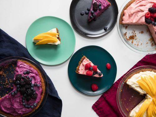 No-Bake Cheesecake with Freeze-Dried Fruit