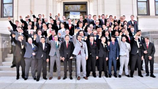 Students in 'Nazi salute' prom photo come forward to explain