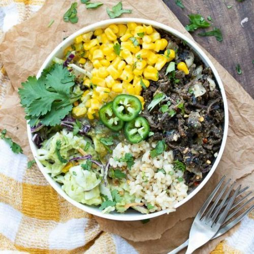 Vegan Carnitas Burrito Bowl