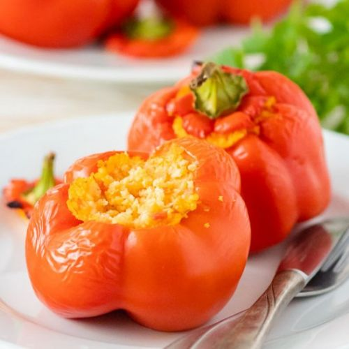 Millet Stuffed Bell Peppers