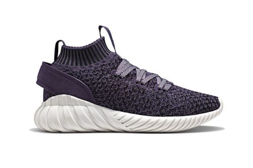 """The adidas Tubular Doom Soc Gets Hit With """"Trace Purple"""" And """"Core White"""" Color Schemes"""