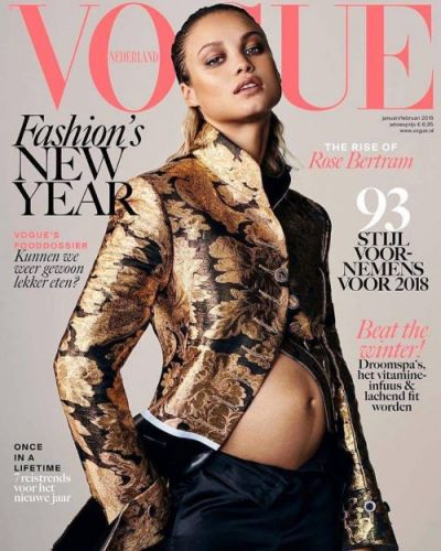A Pregnant Rose Bertram Lands Vogue Netherlands