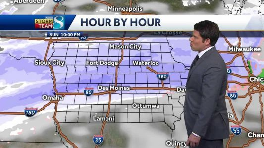 Few inches of snow to fall overnight Sunday