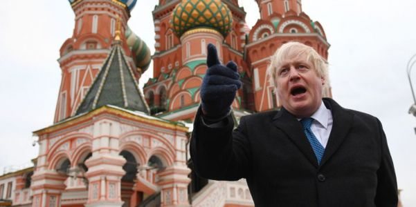 Suspected Russian spy pictured with his 'good friend' Boris Johnson