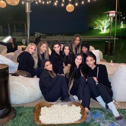 Adrienne Bailon Gets Cozy With Her Kardashian Besties at Poosh's First-Ever 'Movie Night'