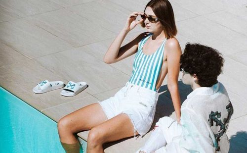OFF-WHITE debuts exclusive swim capsule at Mykonos flagship store