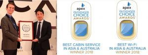 "Japan Airlines wins ""Best Cabin Service"" and ""Best Wi-Fi"" APEX Regional Passenger Choice Awards™"