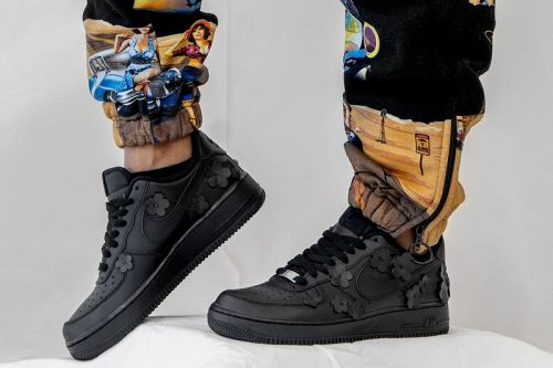 "Made Black Crafts Custom Nike Air Force 1 ""BLACK FLAWA"""