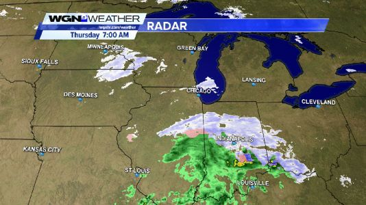 Light snow mixed with freezing drizzle well south of Interstate-80 this Thursday morning