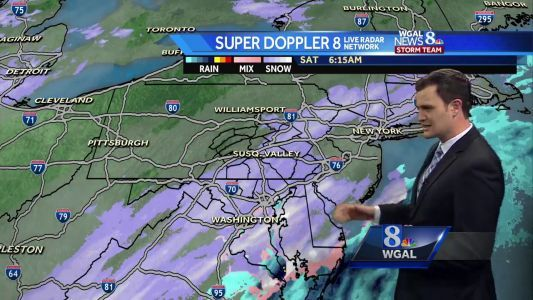 Light Snow For Parts of the Susquehanna Valley Today