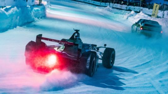 Last year's Formula E car looks great with about a trillion ice studs in its tires, but the Group B