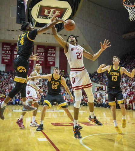 Indiana uses 3-point flurry to beat No. 21 Iowa, end losing streak