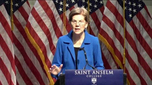 Raw video: Elizabeth Warren delivers economic policy speech in New Hampshire
