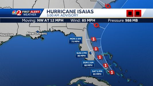 Hurricane Isaias bears down of Florida