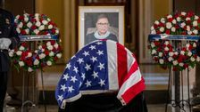 Historic Images As Ruth Bader Ginsburg Lies In State At U.S. Capitol