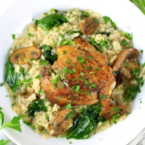 Instant Pot Chicken Thighs Risotto