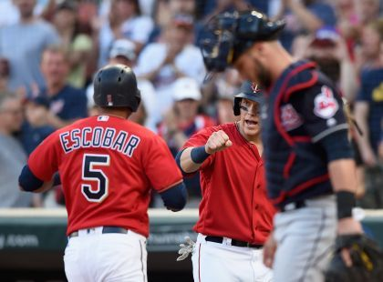 Escobar Homers Twice As Twins Beat Indians 7-4