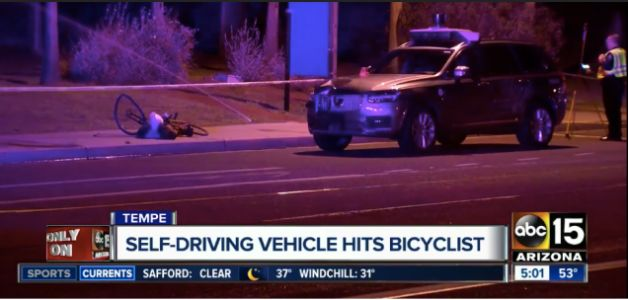 Video Shows Pedestrian In Fatal Uber Crash Stepped In Front Of Self-Driving Car