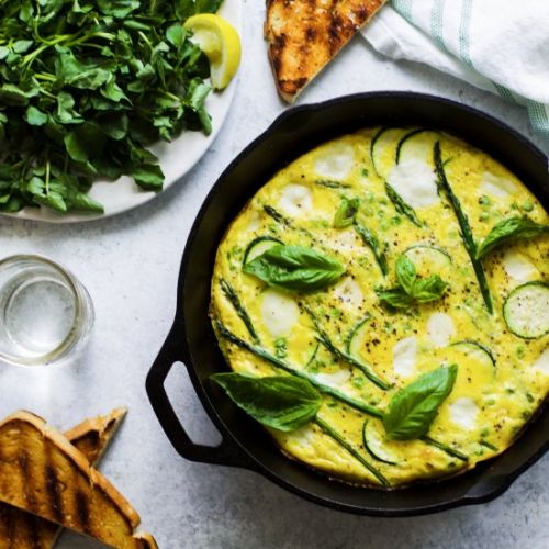 White Pizza Spring Frittata