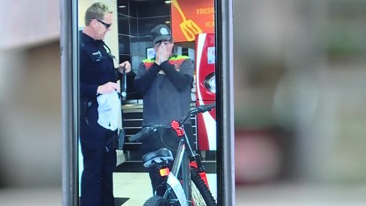 Police officer surprises man with new bike after old one stolen