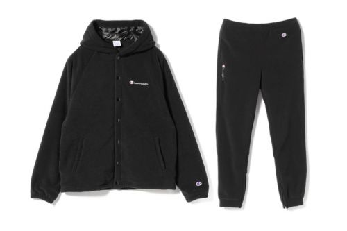 BEAMS & Champion Connect on an All-Black Polartec Capsule