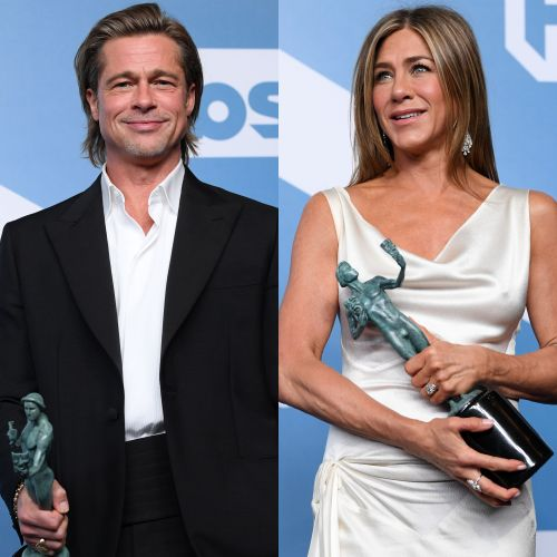 Brad Pitt Sweetly Holds Jennifer Aniston's Hand Following Her Big Win at the 2020 SAG Awards