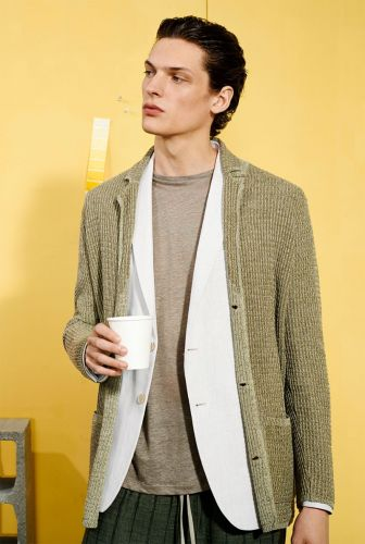 Naturals: Valentin Caron Dons Warm Neutrals from Zara Man