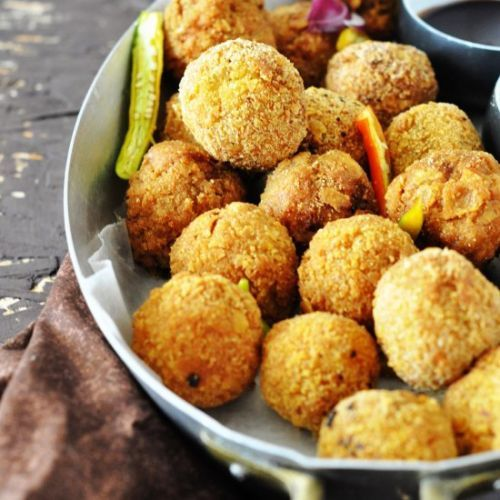 Potatoes Stuffed Mushroom Croquette