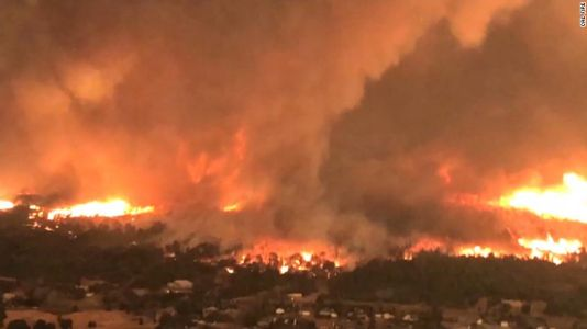 Video shows fire tornado that killed firefighters